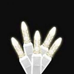 M5 LED Icicle Lights 70L Warm White WHITE WIRE