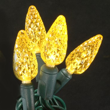 C6 LED Christmas Lights 35L Yellow