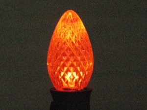 C7 LED Retro Fit Bulb Orange 25PK