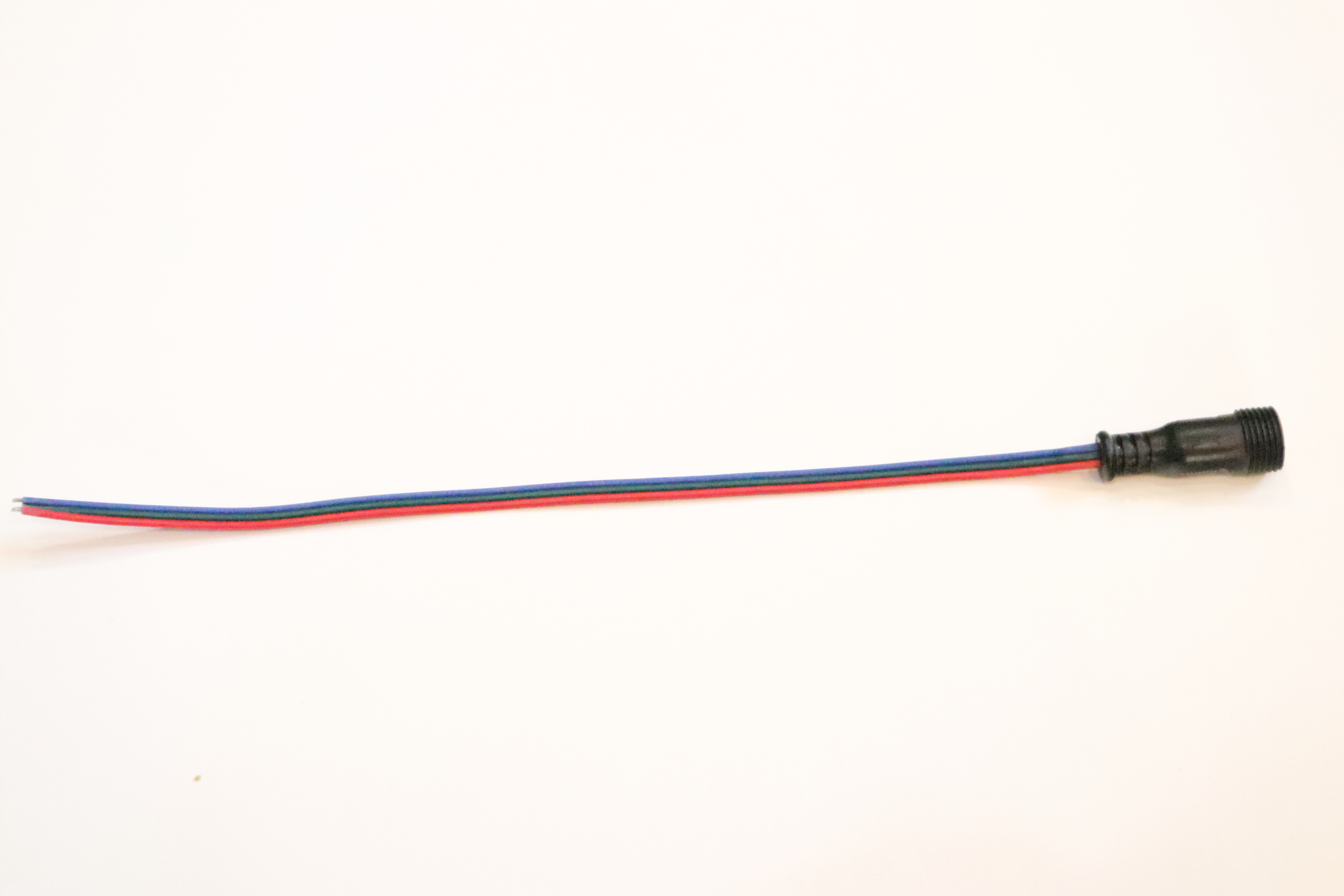 RGB 3-pin Flat Wire Pig Tails - 12 inch FEMALE