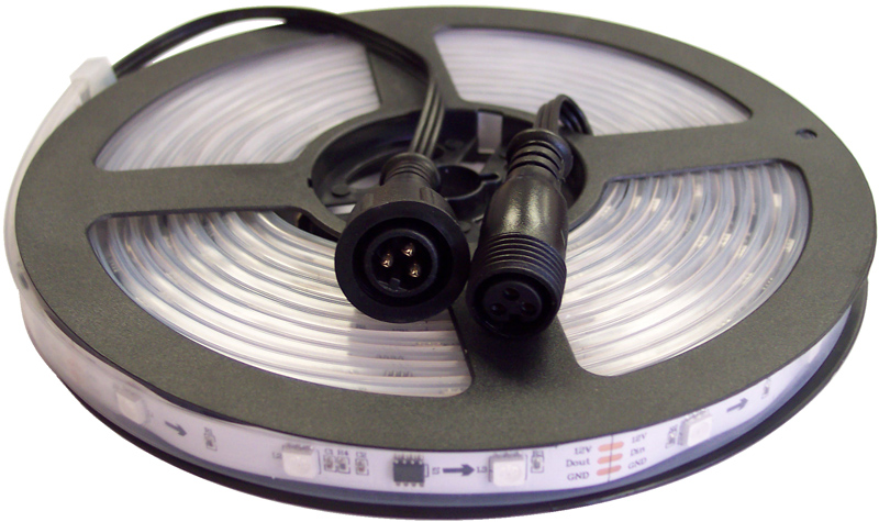 5 Meter Strip 150 LEDs 12v with male and female connectors - White