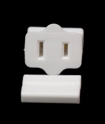 Female Slide on Zip Plug WHITE