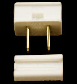 Male Slide on Zip Plug WHITE